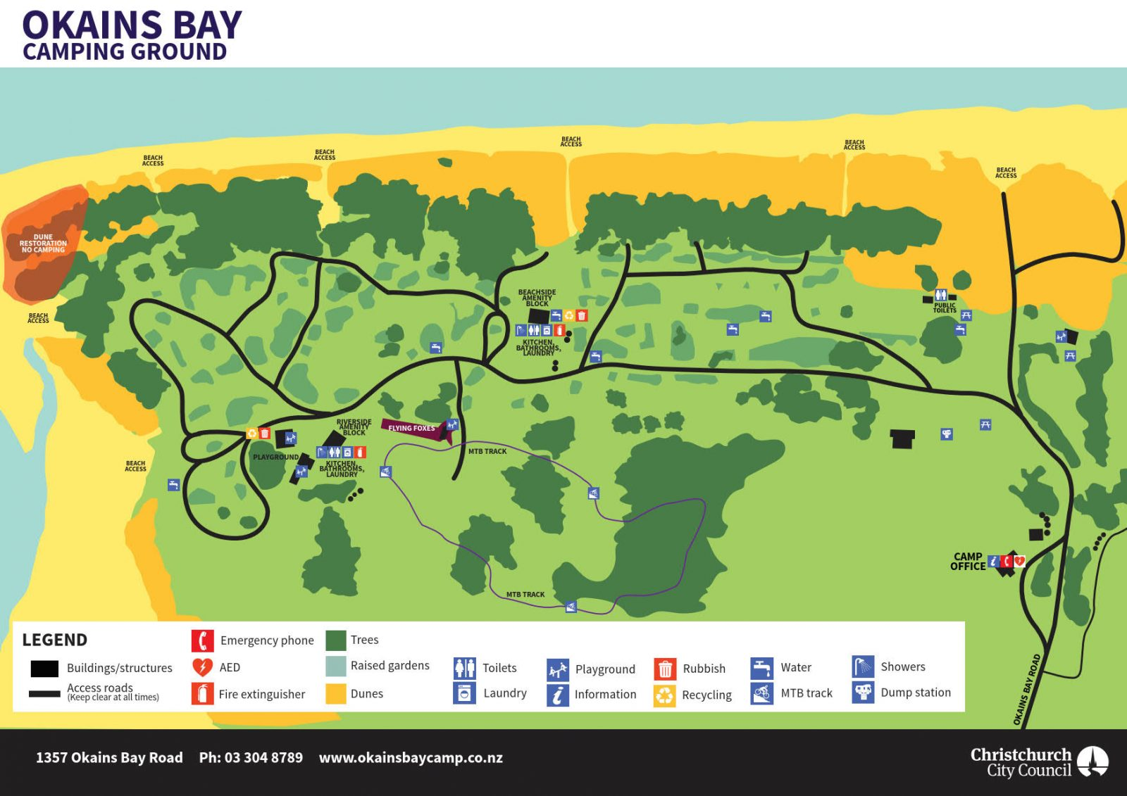 Okains Bay Campground map web