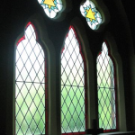 Stained glass window in St Johns Church